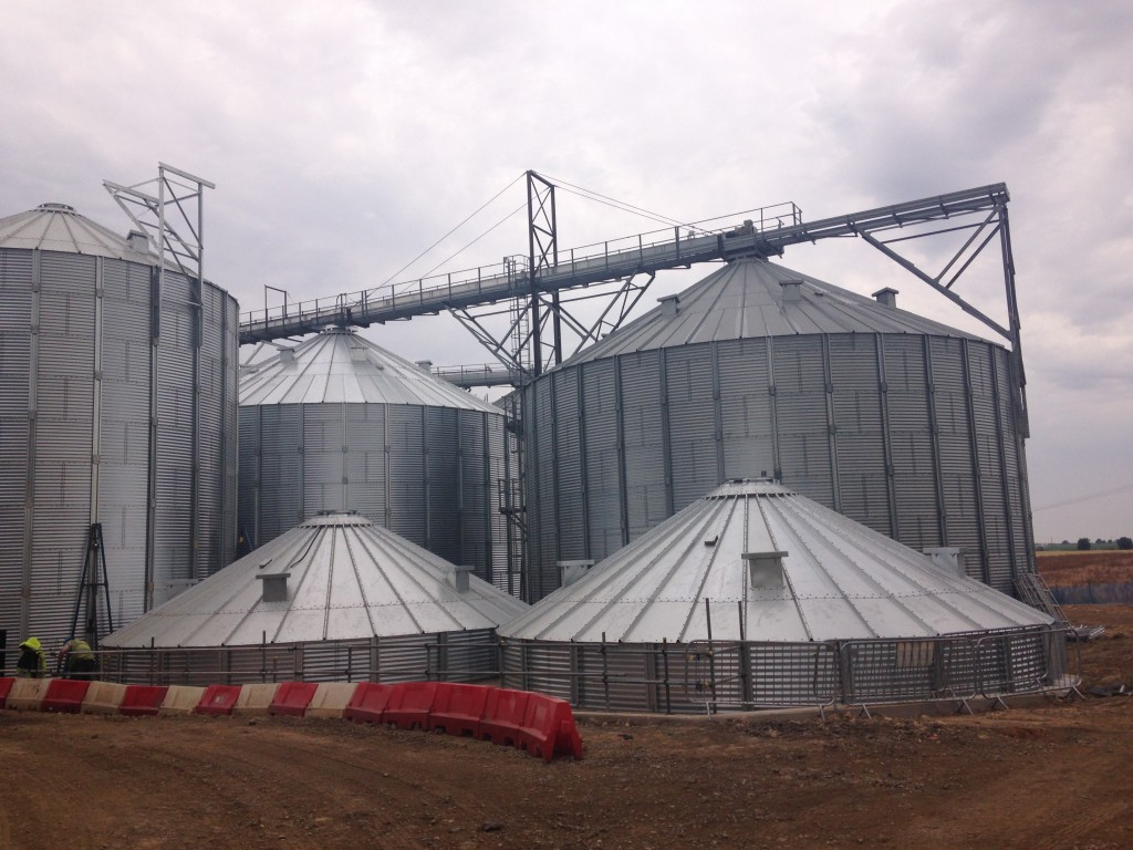 The Grain Stores are built from the bottom up!
